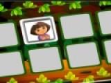 Даша очень любит играть в разные игры. Сейчас она решила проверить твою память. Попробуй убрать с игрового поля все карточки. на обратной стороне нарисованы картинки с Дашей и ее друзьями. Открывай одинаковые картинки, что бы они исчезли.