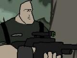 В этой игре Вы исполните роль героя, который должен расчистить лес от террористов и выжить. Управляйте его движениями при помощи стрелочек на клавиатуре, а кнопка S выполнит роль спускового курка на Вашем автомате.