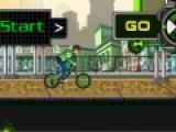 Тебе нравятся велосипеды. Тогда предлагаем поиграть тебе с Беном 10 и выполнить сложные трюки на его BMX.