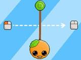 Перерезайте веревки, чтоб помочь апельсину собрать все лимоны и после этого попасть в открывшийся портал. Значки с зелёным кругом и чёрной стрелкой изменяют направление гравитации.