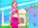 Культура и мода индии очень не похожа на нашу. В этой игре Вам предстоит подобрать образ для девушки в индийском стиле. Постарайтесь как можно лучше, что бы одежда соответствовала всем правилам.