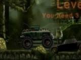 У могильщика необычный автомобиль. у него монстр грузовиков на огромных колесах. Он ездит по старым кладбищам. Помоги ему победить в гонке со смертью и не перевернуться на очередном препятствии.