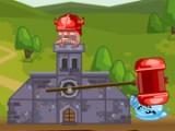 Помогите огненному гному отстоять свой замок от полчищ водяных капель, льдинок, и снежинок. Используйте огромный молот, способный расплющить любого врага с одного удара. Пускайте вход огненные топоры, чтоб поражать врага на расстоянии.