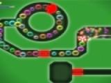 Эта прикольная игра на ловкость понравится тем, кто любит лопать пузыри. Ваша задача лопнуть все цветные шарики и не столкнуться с преградами и стенками лабиринта.