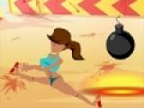 Предлагаем Вас сыграть в пляжный волейбол. Но вместо мяча у Вас будет бомба. Ваша задача как можно лучше отбивать ее, что бы она не взорвалась на вашей половине игрового поля. Что бы отбить мяч нажимайте на пробел. Для начала игры нажмите кнопку S. Важно! В этот момент должна стоять английская раскладка клавиатуры.