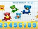 Эта игра для тех, кто учится считать. На экране появятся мишки Тедди. Ваша задача их пересчитать и нажать мышкой на ту цифру, которая соответствует количеству мишек.