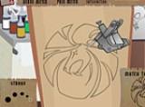 Отличная игра Tattoo Artist 2 для тех кто в будущем собирается стать тату мастером. Целью игры является нанести рисунок клиенту максимально ровно и при этом причинить минимальную боль.