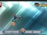 Человек Паук очень любит гонять на своем модном мотоцикле. Цель этой игры гонки по ледяному бездорожью на мотоцикле. Помогите герою преодолеть все неровности трассы и не перевернуться.