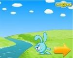 Помогите Крошу добраться до такой желанной морковки. Для этого ловко прыгайте по канатам. Управление: ПРОБЕЛ - прыжок.