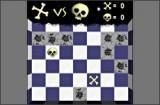 Черепки и кости - очень увлекательная игра, несмотря на наличие в ней черепов, костей и пауков =). Игра напоминает крестики-нолики, однако поле здесь 7 на 5, а не 3 на 3. Забавный игровой процесс с неожиданными элементами!