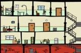Цель игры - довести красного человечка до шкафа на верхнем этаже. В доме полно комнат и людей и нужно изрядно подумать, чтоб выполнить заданную последовательность действий человечков и предметов в этом загадочном доме!