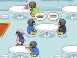 Вы пингвин и работаете в кафе официантом. Ваша задача-обслужить как можно больше клиентов. На каждый уровень ставится определенная задача. Управление с помощью мышки.