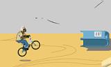 В этой игре необходимо выполнять трюки на велосипеде. Управление довольно непростое, но привыкнуть можно!