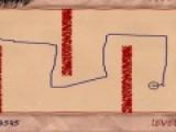 Ваша задача при помощи мышки нарисовать линию от старта к финишу. Эта задача очень простая в первых уровнях. Но с каждым уровнем лабиринт будет становиться все сложнее. Вы должны проявить не малую ловкость, что бы линия, которую вы рисуете, не коснулась стен лабиринта.