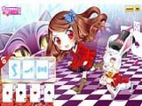 Эта игра в стиле манга поможет развить в ребенке чувство стиля в детской одежде. Помогите маленькой Алисе подобрать красивы наряд, макияж и прическу, чтоб выглядеть неотразимо и заслужить похвалу белого кролика и чеширского кота.