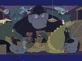 Доброй ночи, мистер Snoozleberg, эпизод второй, Церемония награждения. На этот раз мистер Snoozleberg путешествует по Голливуду, в студии, по декорациям...