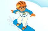 Диего отправился в снежные горы и теперь его миссия - спасать пингвинов, тюленей и других зверушек, скатываясь по склонам на сноуборде.