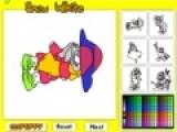 Эта игра раскраска подойдет для творческих детей, которые любят рисовать и раскрашивать картинки. Белоснежка и гномы стали героями этой игры. Проявите фантазию и раскрасьте безцветные изображения в самые яркие краски.