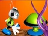 Помогите Инопланетному роботу Сквики собрать масло и улететь домой на своей летающей тарелке. Постарайтесь избегать взрывчатки и колючих монстров. Они хотят уничтожить робота.