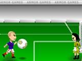 В этой спортивной игре под названием футбол есть две важные вещи. Это мяч и ворота. Ваша задача отбить как можно больше мячей. вторая задача - забить по больше голов в ворота соперника.