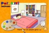 Игра из серии Paint It - изучаем английские слова, раскрашивая спальню. После правильных действий - человечек просыпается.
