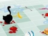 Котик Валфи от души поигрался на кухне. Теперь он хочет добраться и в другую комнату. Щелкай на изображение кубика с цифрами. После этого тебе придется решить одну из головоломок. Реши ее. Иначе Валфи не выберется из грязной кухни.