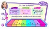 В этой игре мы учимся играть на пианино вместе с Барби!