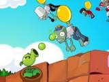 Похоже Зомби поняли тщетность своих попыток атаковать наши территории по земле и теперь пытаются осуществить вторжение с воздуха, а в качестве средства передвижения выбрали воздушные шары. Они еще не знают что у нас есть растение-пушка!