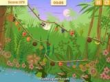 Скользящий ленивец - помогите ленивцам не стать обедом для крокодилов. Для этого нужно собрать все фрукты и встретиться на одной из веток большого дерева.