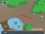 Самый лучший вариант змейки! Вы ползете по красивой полянке, а компас показывает где можно съесть таблетку роста.
