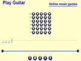 Перед вами онлайн гитара, на которой вы можете мышкой нажимать струны и извлекать гитарные звуки. Используйте эту игру для развлечения.