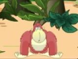 Прикольная игра с интересным сюжетом понравится детям и взрослым. Цель игры помочь смешной обезьяне собирать бананы и убегать от злых собак и пчел. Используйте стрелки, что бы обезьяна передвигалась и прыгала. Но не гоняйтесь за пустыми банановыми шкурками. Они не по вкусу обезьяне.