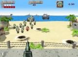 Вы обороняете побережье, а враг десантирует войска на плавучих баржах. С каждым разом войск все больше и они все более агрессивные. Зато у Вас патронов всегда в достатке!