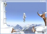 Кидайте сосульки в гору, чтобы помочь пингвину взобраться вверх.