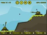 В эту игру на мотив знаменитых Worms, Вы можете играть против компьютера или со своими друзьями. Выберите силу выстрела и угол стрельбы и приведи свой танковый корпус к победе над бронированными машинами противника!