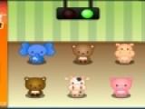 Перед вами еще одна развивающая игра. Она проверит Вашу память. Смотрите на милых животных, которые подпрыгивают на месте. Затем заставьте их подпрыгивать в том же порядке нажимая на нужного зверька левой кнопкой мыши.