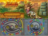 Классическая реализация знаменитой игры Zuma. Управляйте каменной жабой и старайтесь выстроить хотя бы три шарика одного цвета. При этом нельзя дать остальным шарикам достичь золотого черепа.