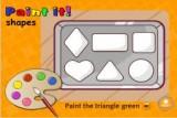 Перед тобой коробка сладостей разной формы. Внимательно послушай инструкции и раскрась правильно.