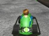 Бен 10 тоже очень любит гонки. И потому он решил принять участие в гоночном заезде на специальных автомобилях. Помоги герою добраться до финиша первым и обогнать всех своих соперников.