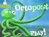 Octo post - очень красочная игра наполненная действиями. Ее цель забросить осьминога как можно дальше. Что бы он доставил посту адресату. За вырученные деньги можно купить дополнительные вещи. которые увеличат дальность полета. Для броска используйте свою мышь.