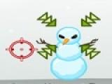 В этой игре Вы должны помочь деду морозу практиковаться в стрельбе. Он должен уничтожить всех роботов и снеговиков. Не всегда есть возможность прицелиться в мишень. Используйте свойства пули рикошетом отлетать от твердых поверхностей.