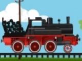 Представьте что вы машинист на старом паровозе. Вы перевозите уголь.  Его нужно доставить на завод и не рассыпать по пути. В каждом уровне угля будет все больше, а колея станет еще более бугристой.