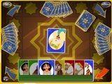 Карточная игра в стиле мультиков про Алладина, здесь можно встретить множество любимых героев Аграбы, удачи.