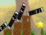 Перед Вами увлекательная игра разрушалка цель которой собрать все звездочки, что бы сработала катапульта. Для этого нужно правильно расставить дополнительные колонны и ящики.