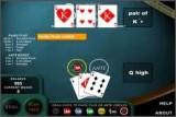 Стало быть покер, только вместо пяти карт играются всего три. Довольно весело видеть игру королей в таком урезаном виде.