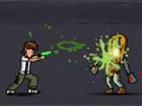 Бен 10 вышел на тропу войны против кровожадных зомби. Помоги ему одержать победу над монстрами и отбить атаку. У него есть пистолет и охотничий нож. Они помогут Бену 10 в драке с зомби. Для того, что бы использовать пистолет или нож, зажимай клавиши Z и X на клавиатуре. Управляй движениями персонажа при помощи стрелок.