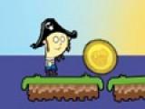 Золотые монеты так манят. Помогите пирату добыть монету за одно пошевелите мозгами. Им тоже иногда нужна работа!