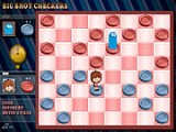 Красочные шашки с изменениями в правилах. Вы проиграете, если шашка с персонажем противника станет дамкой.
