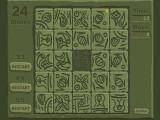 Очень необычная версия пятнашек. Все надписи на камнях зашифрованы и вы заранее не знаете в какой последовательности они должны быть расположены. Гоняйте камни по полю, пока на них не появится птичка - это будет знак того, что камень находится на своем ме
