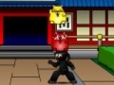 Эта игра о том, как ловкий ниндзя ловит котов, которые спрыгивают с балконов. Вы должны помочь ему выполнить это задание. Используйте мышку, что бы управлять ловким ниндзя.